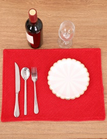 Fashion Red Pure Color Decorated Placemat