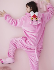 Fashion Pink Leopard Shape Decorated Pajamas