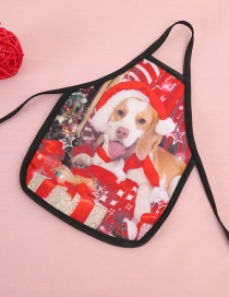 Fashion Red Dog Pattern Decorated Christmas Bottle Cover