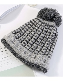 Fashion Black Double Layer Design Knitted Hat