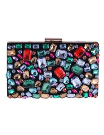 Fashion Multi-color Diamond Decorated Handbag
