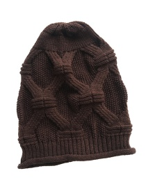 Fashion Coffee Pure Color Decorated Hat