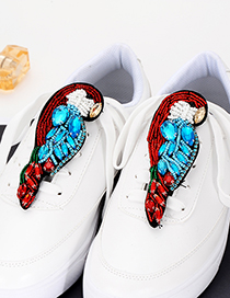 Fashion Red Bird Shape Decorated Shoes Accessories