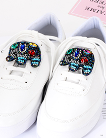 Fashion Multi-color Elephant Shape Decorated Shoes Accessories