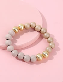 Fashion Beige Bead Decorated Pure Color Bracelet