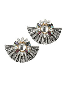 Fashion Multi-color Pearl&diamond Decorated Earrings