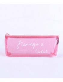 Fashion Pink Pure Color Design Simple Pencil Case