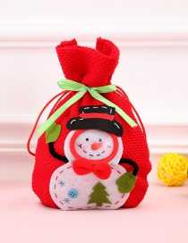 Fashion Red Snowman Pattern Decorated Gift Bag