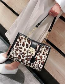 Fashion Khaki Leopard Pattern Design Simple Handbag