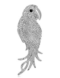 Fashion Silver Color Pure Color Decorated Parrot Shape Brooch