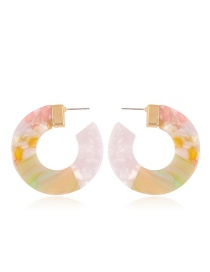 Fashion Beige Color-matching Decorated Earrings