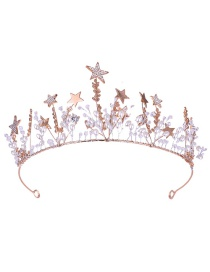 Fashion Rose Gold Star Shape Decorated Hair Accessories