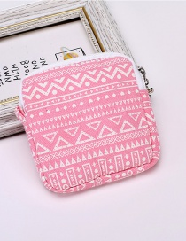 Fashion Pink Geometric Pattern Decorated Storage Bag