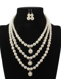 Fashion Beige Pure Color Decorated Jewelry Set