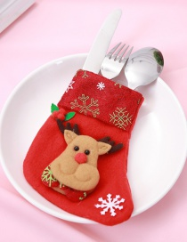 Fashion Red Deer Pattern Decorated Christmas Sock