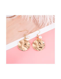 Simple Gold Color Pure Color Decorated Earrings