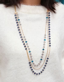 Fashion Gold Color Bead Decorated Necklace