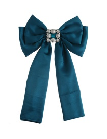 Fashion Green Diamond Decorated Bowknot Brooch