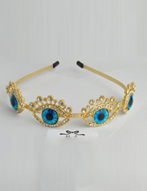 Fashion Blue+gold Color Eye Shape Decorated Hair Accessories