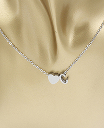 Simple Silver Color Letter C&heart Shape Decorated Necklace