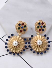 Fashion Multi-color Diamond Decorated Earrings