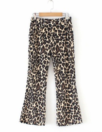 Fashion Brown Leopard Pattern Decorated Loose Pants