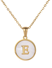 Fashion Gold Color Letter E Shape Decorated Necklace