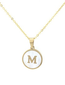 Fashion Gold Color Letter M Shape Decorated Necklace