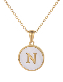 Fashion Gold Color Letter N Shape Decorated Necklace