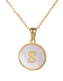 Fashion Gold Color Letter S Shape Decorated Necklace