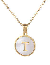Fashion Gold Color Letter T Shape Decorated Necklace