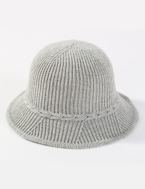 Fashion Light Gray Pure Color Decorated Hat