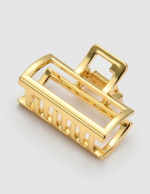 Elegant Gold Color Square Shape Design Pure Color Hair Claw(small)