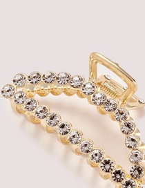 Elegant Gold Color Full Diamond Decorated Simple Hair Claw