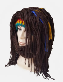 Lovely Multi-color Tassel Design Weird Knitted Hat