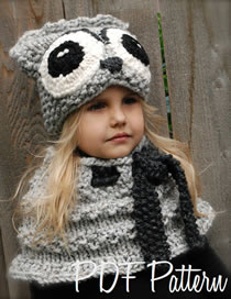 Lovely Gray Owl Shape Design Pure Color Child Hat(2pcs)