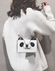 Fashion White Cartoon Panda Shape Design Shoulder Bag