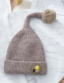Fashion Gray Pure Color Design Tails Shape Child Hat