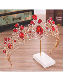 Fashion White+red Hollow Out Design Bridal Hair Accessories