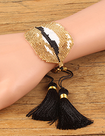 Fashion Gold Color Lip Shape Decorated Tassel Bracelet