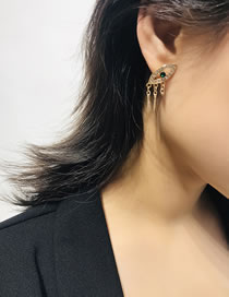 Simple Gold Color Eye Shape Decorated Earrings