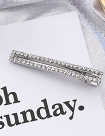 Fashion White Full Diamond Decorated Hair Clip