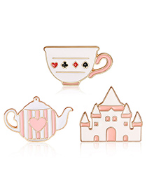 Fashion Pink Cup Shape Decorated Clothing&bag Buckle(3pcs)
