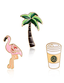 Fashion Multi-color Flamingo Shape Decorated Clothing&bag Buckle(3pcs)