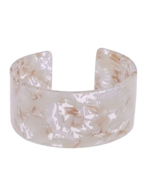 Fashion White Flower Pattern Decorated Opening Bracelet