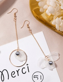 Fashion Gray+white Flower Shape Decorated Earrings