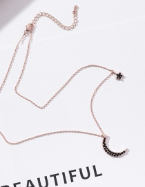 Fashion Black Moon Shape Decorated Necklace