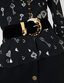 Fashion Black Bead Decorated Belt