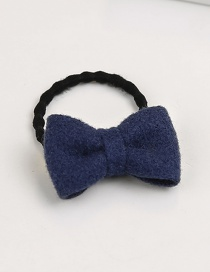 Fashion Navy Bowknot Shape Decorated Hair Band (1 Pc )