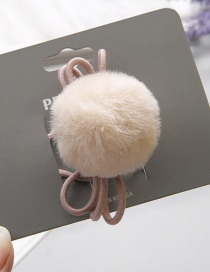 Fashion Beige Pom Ball Decorated Hair Band (1 Pc)